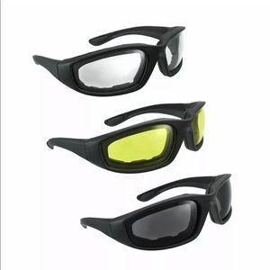 New 3 Pair Motorcycle Sports Biker Riding Glas…